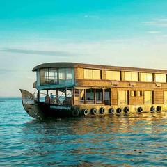 Houseboats at Kerala in Punnappira