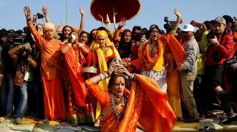 Historic Moment! Transgenders take holy dip at Kumbh Mela 2019