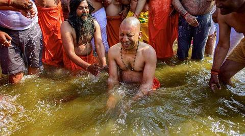 Kumbh Mela Update! Yogi Adityanath Takes The Holy Dip